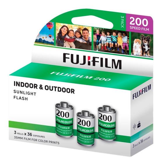 Fujicolor 200 Filme Negativo Colorido (pacote De 3)