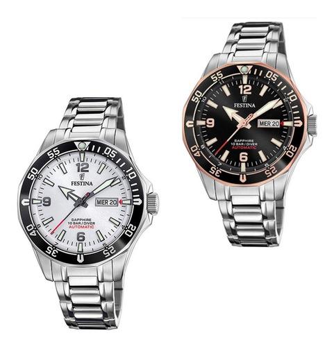 Reloj Diver Automatico Festina Con Cristal De Zafiro F20478