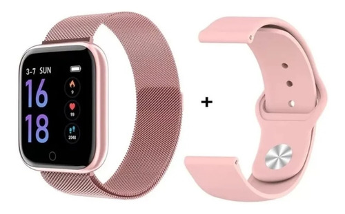 Imagem 1 de 9 de Relógio Smartwatch T80 Batimento Cardíaco, Pressão Arterial