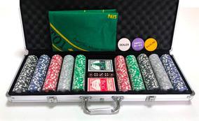Maleta Poker 500 Fichas Oficiais Com Numeração Kit Completo