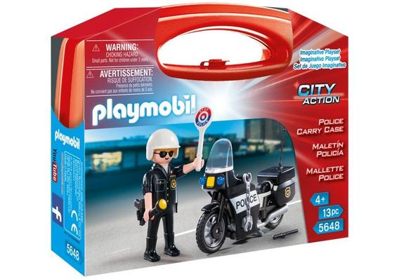 Playmobil 5648 Valija Maletin Policia Con Moto Orig Intek