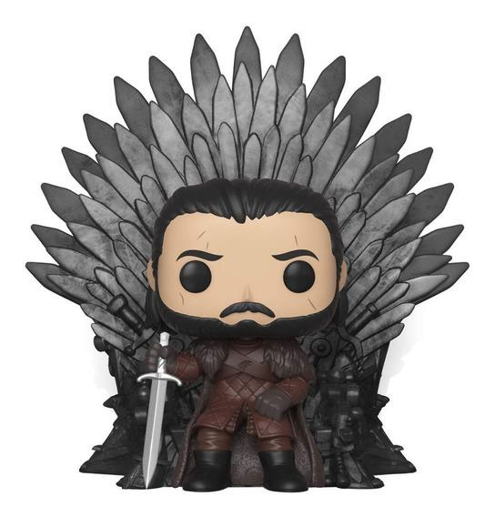 Funko Pop Deluxe Game Of Thrones Jon Snow Sentado No Trono