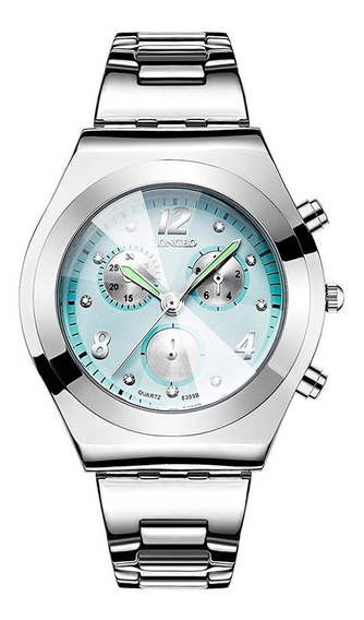 Reloj Mujer Longbo Análogo Platinum Fashion Acero Inoxidable