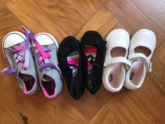 Lote 3 Sapatos Infantis Tam 25