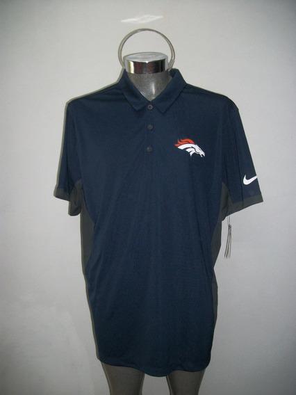 Playera Polo Original Nike Nfl Americano Broncos Denver Extra Grande
