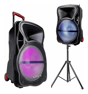 Bafle Parlante Winco Usb Luces Bluetooth + Microfono Karaoke + Tripode