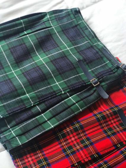 Pollera Kilt Escocesa Colegial/ Baile Escoces T. 14 Y 16