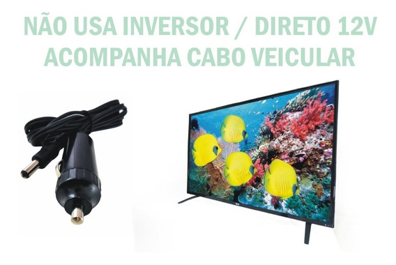Tv Digital 24 Pol 12 Volts Ônibus Trailer Lancha Barco Carro