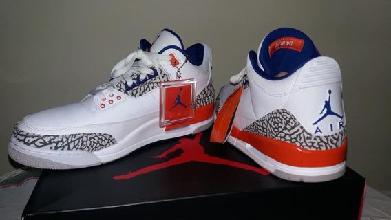 Tênis Nike Air Jordan 3 Knicks Top !!!
