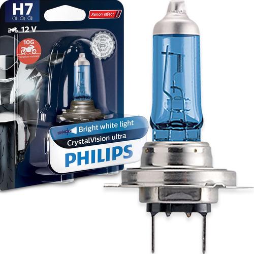 Imagem 1 de 6 de Lâmpada Philips Crystal Vision Para Moto H7 55w 12v