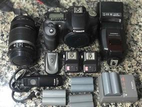 Canon Eos 50d. Lente 55-250 Flash Yn560-ll Disparador De Fl