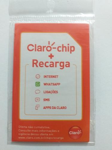 Imagem 1 de 5 de 10 Claro Chip+recarga De 30,00 Reais + Benefícios Ilimitados