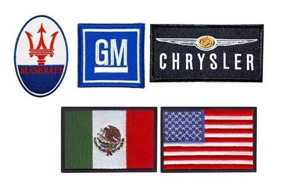5 Parches Bordados Banderas Y Emblemas Autos