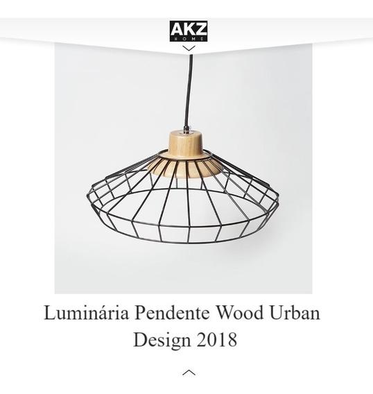 Luminária Pendente Wood Urban Design 2018