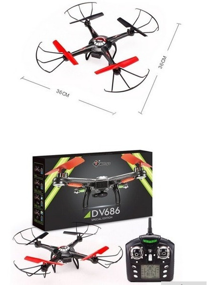 Drone Profissional Com Camera+ Brinde De 3 Baterias Extras