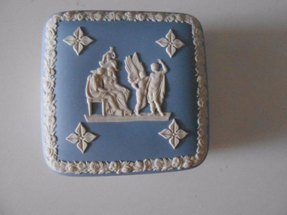 Porcelana Wedgwood Blue Porta Joia 10,2 X 10,2 Cm
