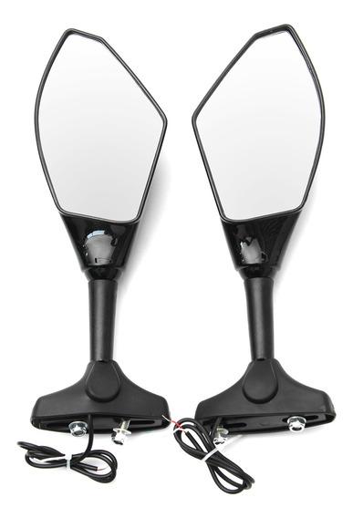 Par Motocicleta Led Turn Signal Retrovisor Espelhos Para Hon