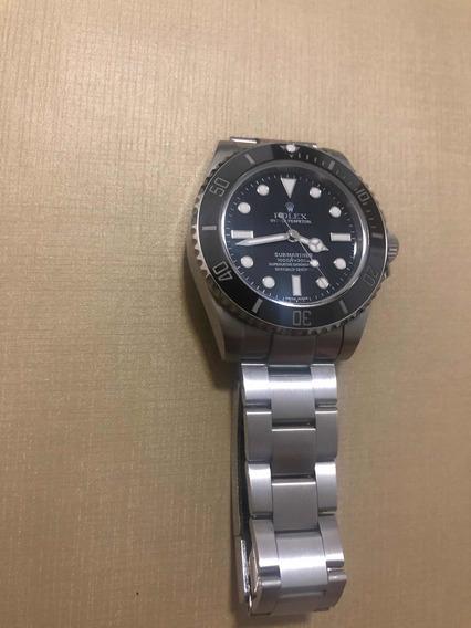 Relógio R. Submariner, Cerâmica, Safira, Auto, Lúmen Azul
