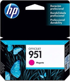 Cartucho De Tinta Cn051al Original Hp 951 Magenta 8 Ml