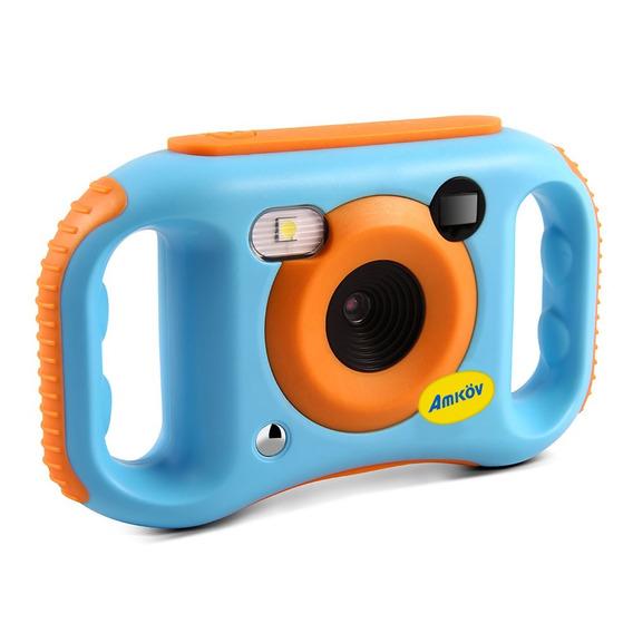 Amkov Cde7 Portátil Bonitinho Wi Fi Crianças Câmera Azul