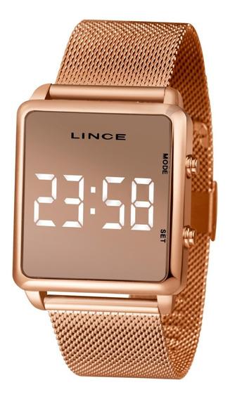 Relógio Lince Feminino Mdr4619l Bxrx Digital Led Branco