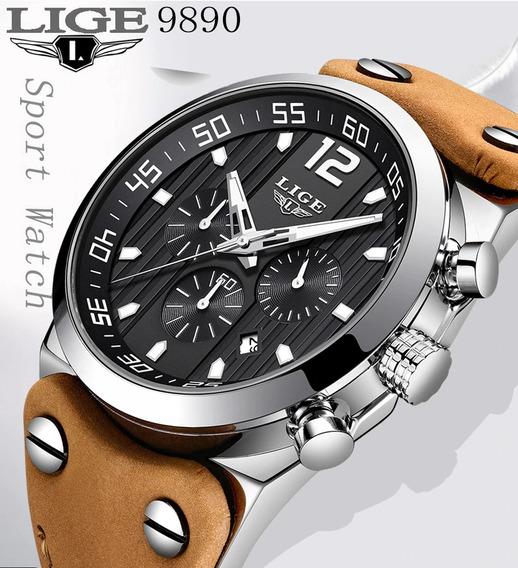 Relógio Pulso - Lige - 44,5mm - Multifunção - Hardlex
