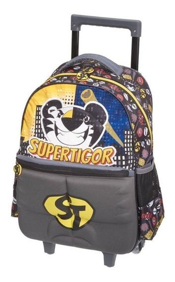 Mochila Escolar Com Rodinhas Tigor T. Tigre Super Tigre 977c
