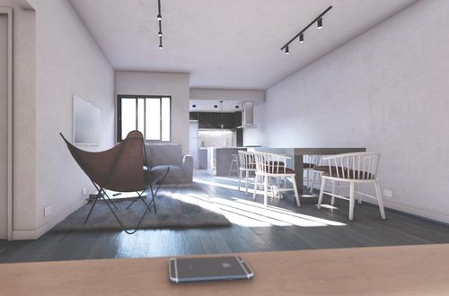 Imagen 1 de 8 de Departamento De 2 Ambientes Con Balcón
