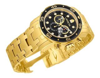 Reloj Invicta 0072 De Hombre Pro Diver Dorado Y Negro 48mm