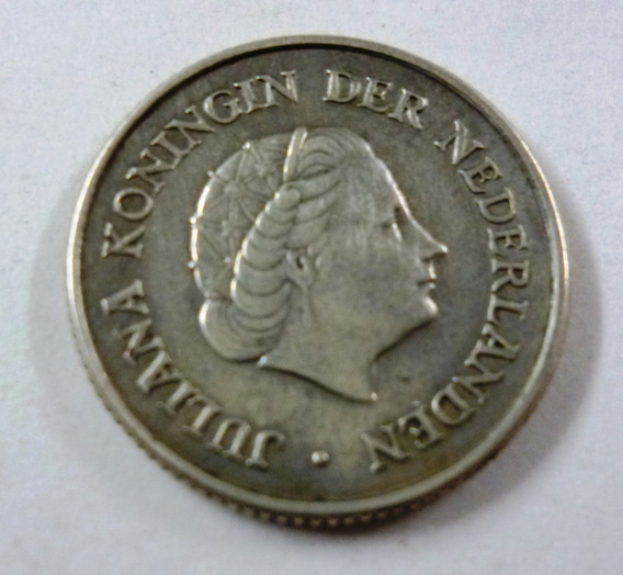 Antillas Holandesas Moneda 1/4 Gulden 1960 Plata Km 4 Vf+