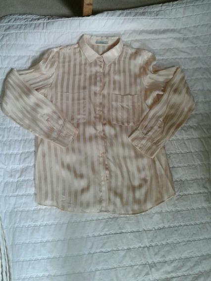 Camisa Ayres 100% Seda Rosa Clarito Talle 40/ Small