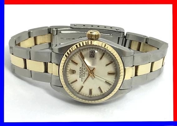 Rolex Oyster Perpetual Date Feminino Aço-ouro 1977, Revisado