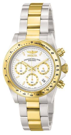 Reloj Invicta 9212 Speedway-acero Inoxidable-baño De Oro 18k