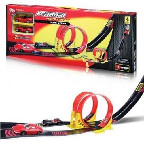 Pista Doble Ferrari Race&play. Burago1/43 Nuevo