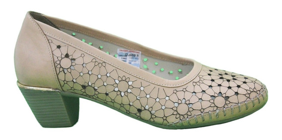 Zapato Cuero Mujer Combinado Art Lobelia. Marca Claris Shoes