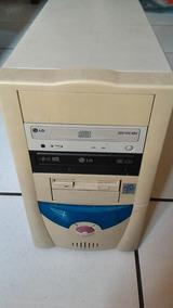 Gabinete Atx De Computador Antigo Branco Sem Fonte E Placa