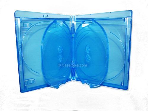 Caja Blu-ray Cuadruple 4 Discos Elite Con Logo Importada