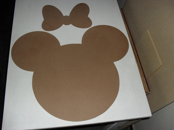 Mickey Minnie Rostinho Mdf Cru