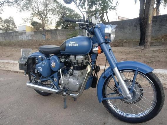 Moto Royal Enfield Classic500 Squadron Blue