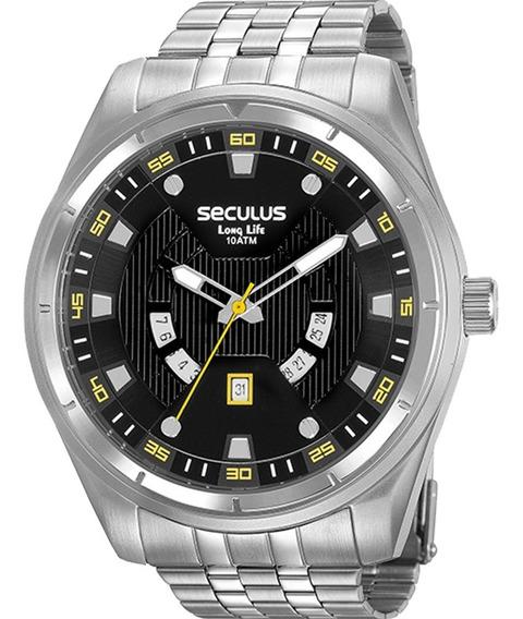 Relógio Seculus Masculino Long Life 20799g0svna1