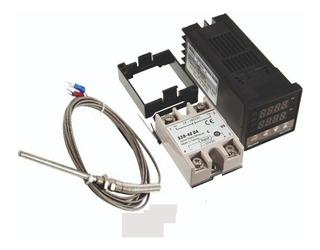 Kit Pirometro Pid Control De Temperatura Sensor K Largo100mm