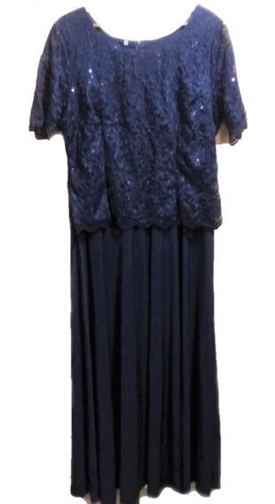Vestido Talles Grandes Encaje Con Mangas 3xl Sabah Desing