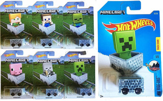 Hot Wheels 2016 Exclusivo Minecraft 6-car Set & Amp; Ride-on