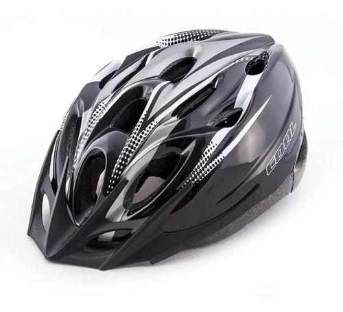 Imagen 1 de 3 de Casco Bicleta Gris Negro Unisex Rcmdr