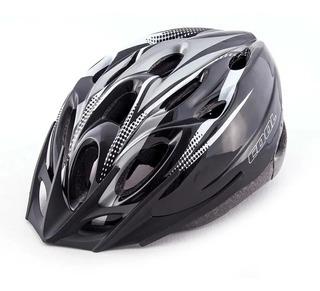 Casco Bicleta Gris Negro Unisex Rcmdr