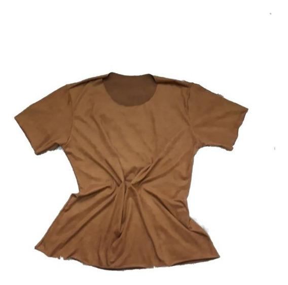 Blusa Tshirt Feminina Chamoa Suéde Inverno Tamanhos E Cores