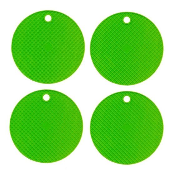 4 Unidades Apoio P/ Panelas Silicone Coloridos