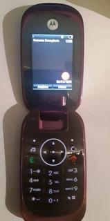 Motorola U9 Rock Roxo Usado Câmera Mp3 Bluetooth Operadora Claro