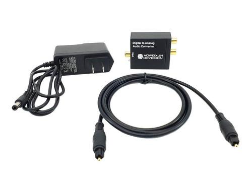 Adapatador Convertidor Audio Optico A Rca Analogo + Cable