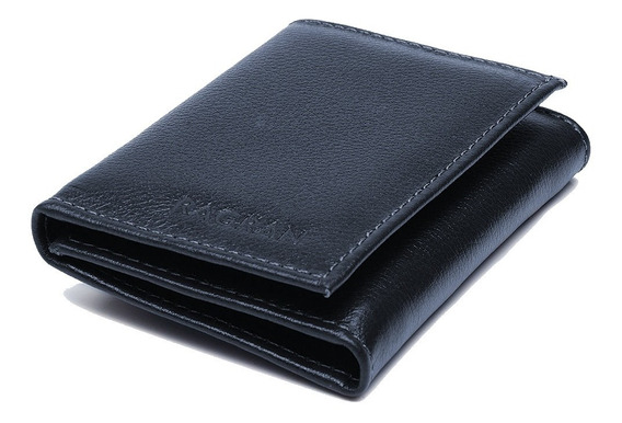 Carteira Masculina Ragran Pequena Porta Cartão Slim Couro